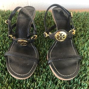 Tory Burch Shoes - Women's Tory Burch Black Leather Sandals sz 6